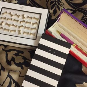Kate Spade office trio push pins,notepad and pen